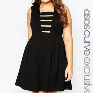 Skater Dress with Ladder Cut Out